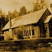 Old Sepia Photo Old Farmhouse H A Poster