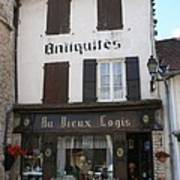 Old Shop In Tournus Poster