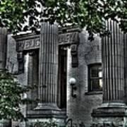 Old Spokane Library W.1st Poster