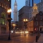 Old State House And Custom House In Boston Poster
