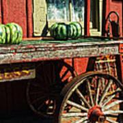 Old Station Cart Poster