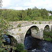 Old Stone Bridge In Scotland Poster