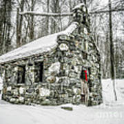 Old Stone Chapel Stowe Vermont Poster