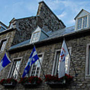 Old Stone Houses In Quebec City Canada  Poster