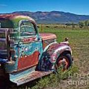 Old Taos Pickup Truck Poster