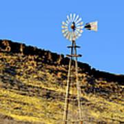 Old Texas Farm Windmill Poster
