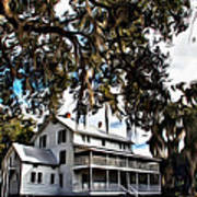 Old Thursby Plantation House Poster