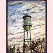 Old Tioga Water Tower Print Poster
