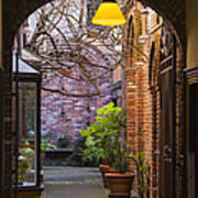 Old Town Courtyard In Victoria British Columbia Poster