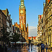 Old Town  Gdansk  Poland Poster