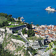 Old Town Nafplio And Ruins Poster