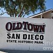Old Town San Diego State Historic Park Poster