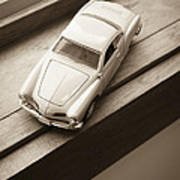 Old Toy Car On The Window Sill Poster