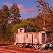 Old Train Caboose Poster