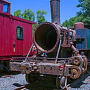 Old Train Engine Poster