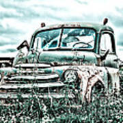 Old Truck - Cool Glaze Poster