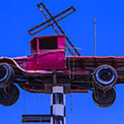Old Truck With Cross Poster