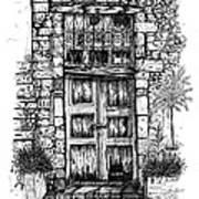Old Venetian Door In Rethymno Poster