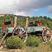 Old Wagon Along The Road Poster