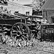 Old Wagon And Cooler Poster