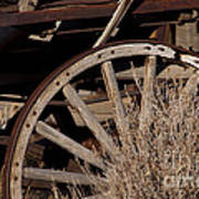 Old Wagon Wheel   #4396 Poster