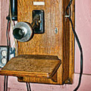 Old Wall Telephone Poster