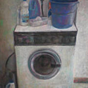 Old Washing Machine Poster by Paez  ANTONIO