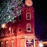 Old Wedge Bank  Building  Haunted Alton Ill Poster
