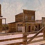 Old West Scene Poster