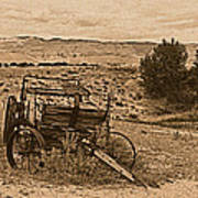 Old West Wagon Poster