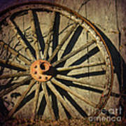 Old West Wagon Wheel Poster