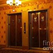 Old Westinghouse Elevators At The Brown Palace Hotel In Denver Poster