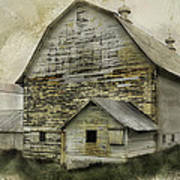 Old White Barn Poster