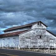 Old White Barn Poster