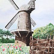 Old Windmill Poster
