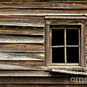 Old Window And Clapboard Poster