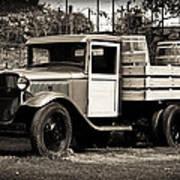 Old Wine Truck Malibu Poster