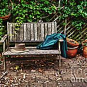 Old Wooden Garden Bench  Poster