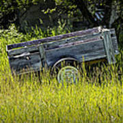 Old Wooden Wagon Poster