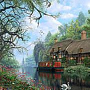 Old Woodland Cottage Poster
