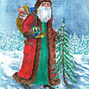 Old World Father Christmas4 Poster by Barbel Amos