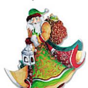 Old World Santa Christmas Art Original Painting By Megan Duncanson Poster