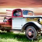 Oldsmobile Sunset Poster by Shannon Rogers