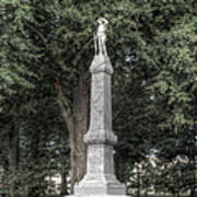Ole Miss Confederate Statue Poster