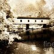 Olin Dewey Covered Bridge 35-04-03 Poster