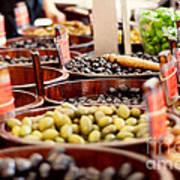 Olives In Barrels Poster
