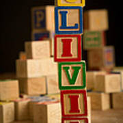Olivia - Alphabet Blocks Poster