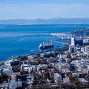 Olympic Mountains On Elliott Bay Seattle Washington Poster