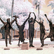 Olympic Wannabes Sculpture By Glenna Goodacre Near Infrared Poster