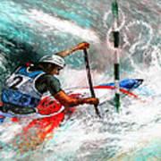 Olympics Canoe Slalom 02 Poster by Miki De Goodaboom
